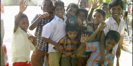 Enfants qui sourient