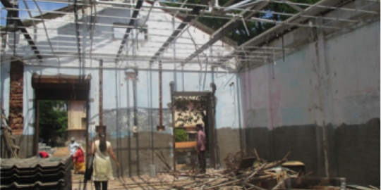 Une maison détruite par les pluies