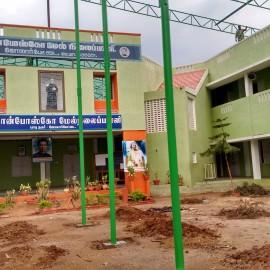 Ecole de Jalarpetai avant la construction du toit