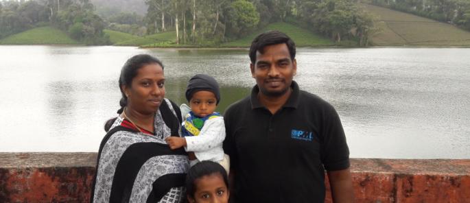Anand Britto et sa famille
