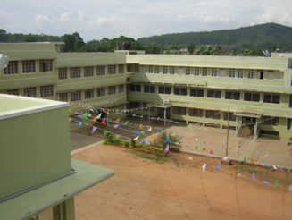 Le centre Don Bosco vu du grand hall