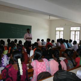 Intérieur d'une classe - Université Don Bosco, Yelagiri Hills