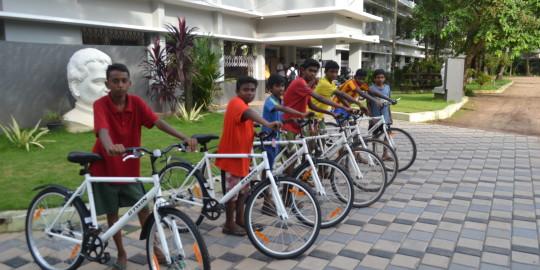 Les vélos de Sneha Bhavan, Kochi, Kerala