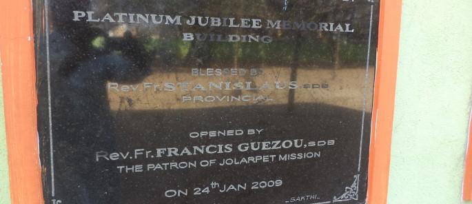 Dernier bâtiment inauguré par le Père Guézou
